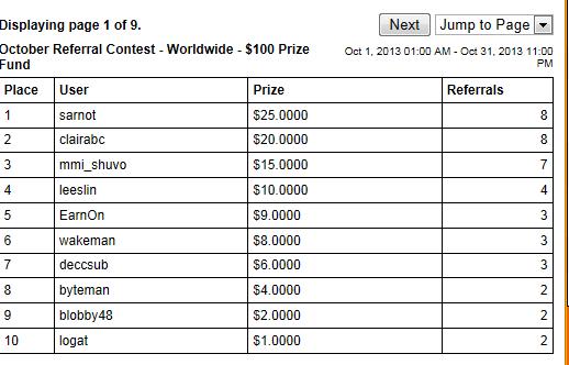 rewardingways的$0.10推荐现金红利的回归以及11月份的推荐奖励大赛